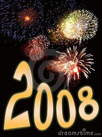 Fireworks and new year text 3