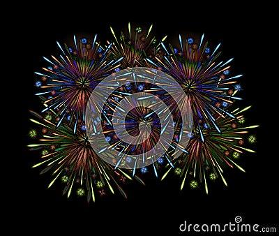 Fireworks night color