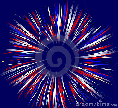 Free Fireworks On Blue Royalty Free Stock Images - 2640209