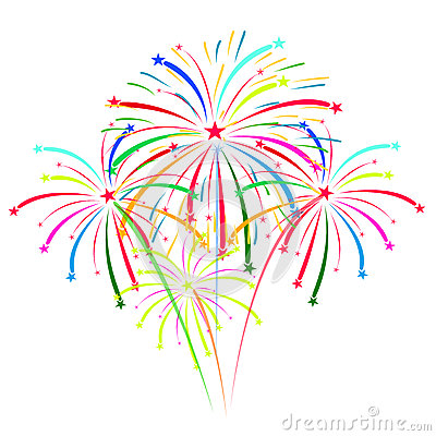 Free Fireworks On White Background Vector Illustration Stock Photos - 52137603