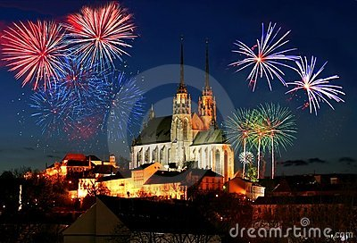 Fireworks over Brno