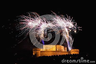 Fireworks over the castle