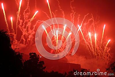 Fireworks Over Edinburgh Castle, Scotland