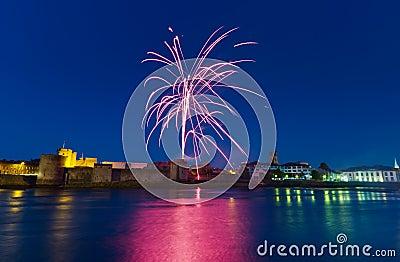 Fireworks over King John Castle