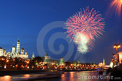 Fireworks over Kremlin