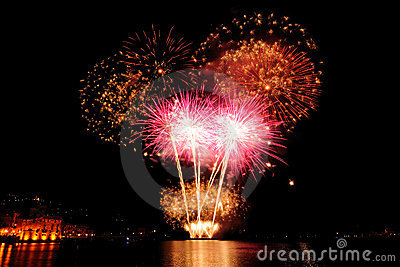 Fireworks over the sea of Rapallo, It