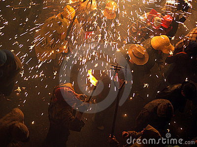 Fireworks popular party Editorial Stock Photo