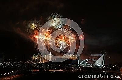 Fireworks in Putrajaya