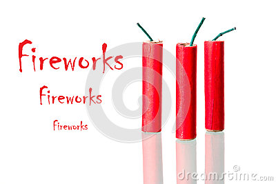 Fireworks with sample text