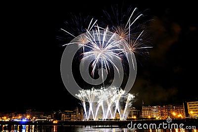 Fireworks in San Sebastian - august 2011 Editorial Photo