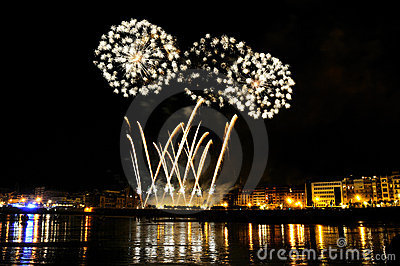 Fireworks in San Sebastian - august 2011 Editorial Image
