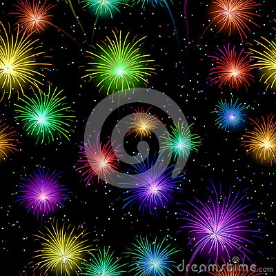 Fireworks, Seamless Stock Photography - Image: 26115432