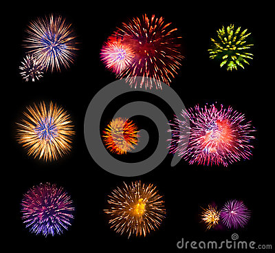 Free Fireworks Set Stock Images - 54274054
