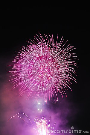 Fireworks signifying celebration and achievement