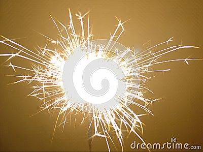 Fireworks Sparkler Stock Photo