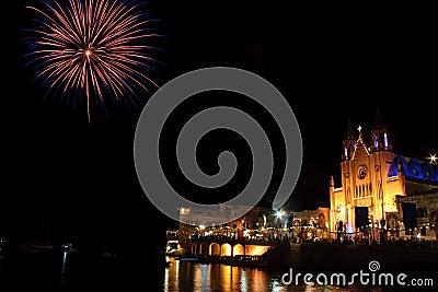 Fireworks in St Julians bay 3.