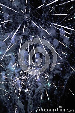Free Fireworks - Star Burst Display Stock Image - 5810321
