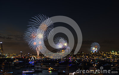 Fireworks Sydney new years eve 2013 Editorial Stock Image