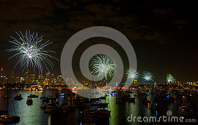 Fireworks Sydney new years eve 2013 Editorial Stock Photo