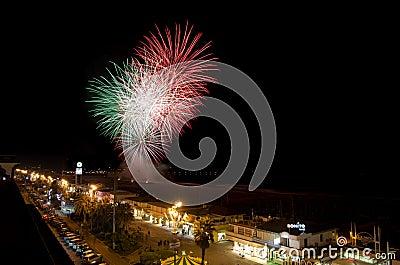 Fireworks, Viareggio, Tuscany Editorial Stock Image