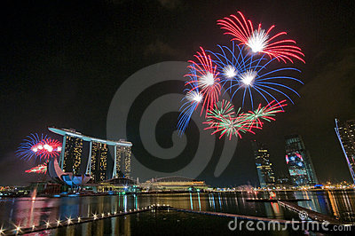 Fireworks at Youth Olympic Games Opening Editorial Image