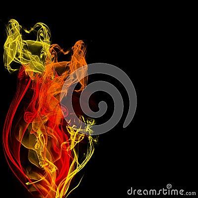 Firey fractals