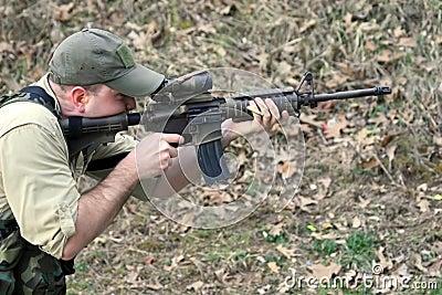Firing Assault Rifle