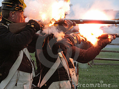 Firing Their Muskets Editorial Image