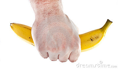 Firm grip on a banana