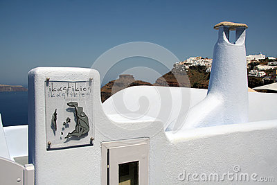 Firostefani, Santorini Editorial Photography