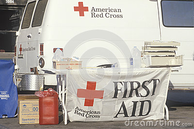 First Aid booth Editorial Stock Image