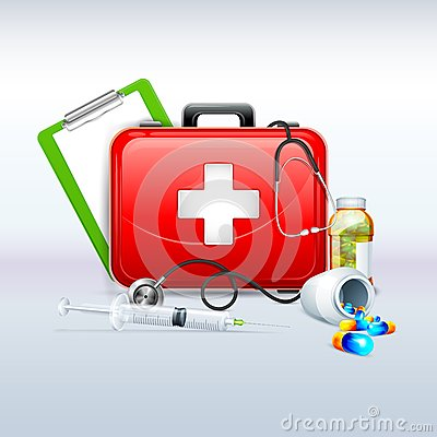 Free First Aid Box Royalty Free Stock Photography - 38068757