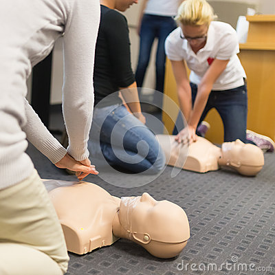 Free First Aid CPR Seminar. Royalty Free Stock Image - 46129806