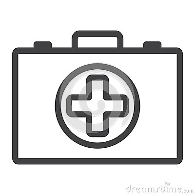 Free First Aid Kit Box Line Icon, Medicine Stock Images - 100940154