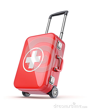 Free First Aid Kit For Travel Royalty Free Stock Photo - 32297885