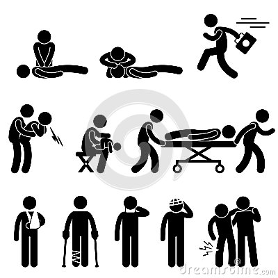 First Aid Rescue Emergency Help CPR Pictogram