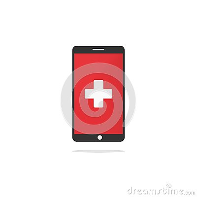 Free First Aid Sign On Device Screen Royalty Free Stock Image - 105765336