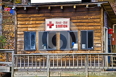 First Aid Station Editorial Image