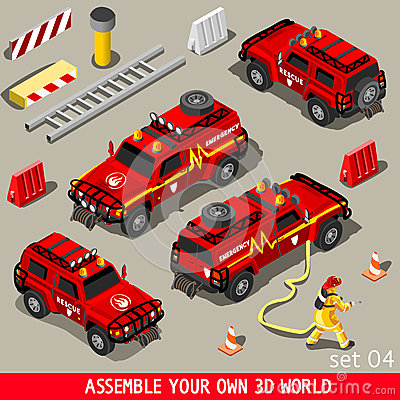 Free First Aid Vehicle Isometric Stock Photography - 58667502