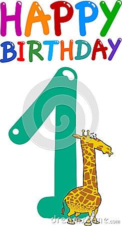 First birthday anniversary design