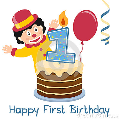 First Birthday Little Clown