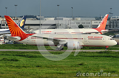 First Boeing 787 for Air India Editorial Photography