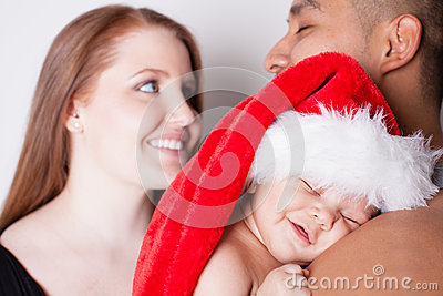 First Christmas for baby