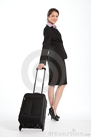 First class business travel beautiful Asian woman