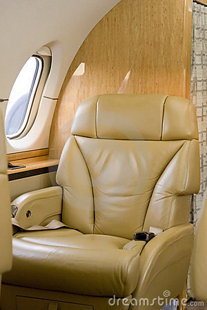 First Class Seat on Corporate Jet