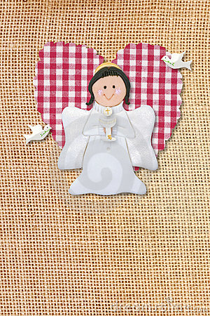 first communion card, angel