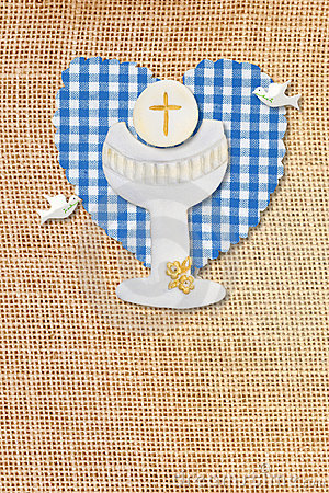 First communion card,chalice