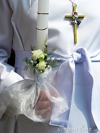 First Communion Of A Girl
