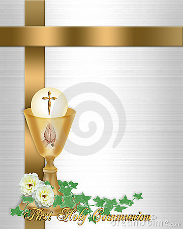 Free First Communion Invitation Stock Image - 13756701