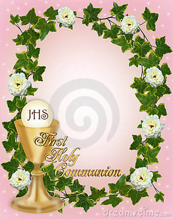 First Communion Invitation Border